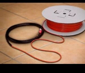 Heated floor cables with thermostat