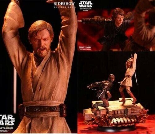 SIDESHOW OBI WAN VS ANAKIN - EPISODE III: REVENGE OF THE SITH ONLY 1250 MADE!