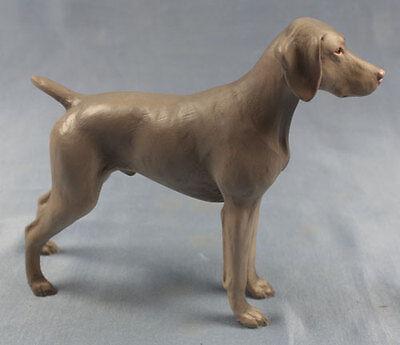 weimaraner figur  hund North light hundefigur jadghund alabaster