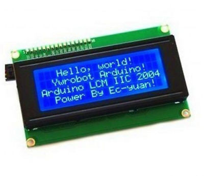 New Blue Iic I2c Twi 2004 20x4 Serial Lcd Module Display For Arduino