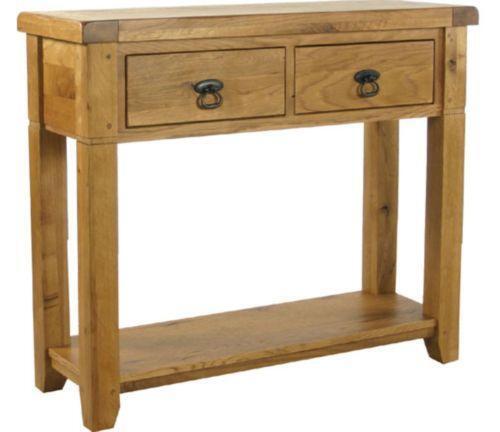 Oak hallway table ebay for Hallway table