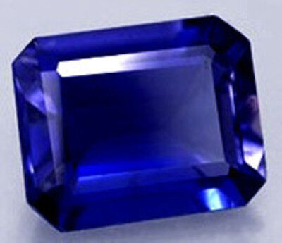 4.7 cts  10x8 mm Octagon Created Blue Sapphire