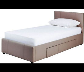 Paxton Single Bed Frame - Latte