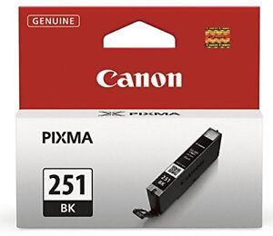NEW Genuine Canon CLI-251 Black Ink Tank - 3 Available!