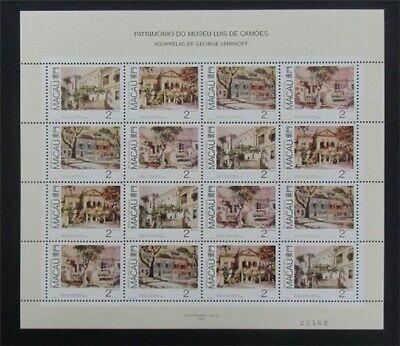 nystamps Macao Stamp # 591a Mint OG NH $60   L23y3352