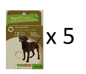 5 collier anti tiques puces moustiques special chien protection naturel maximum ebay. Black Bedroom Furniture Sets. Home Design Ideas