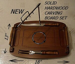 Deluxe Solid Hardwood Carving Board Set *NEW*