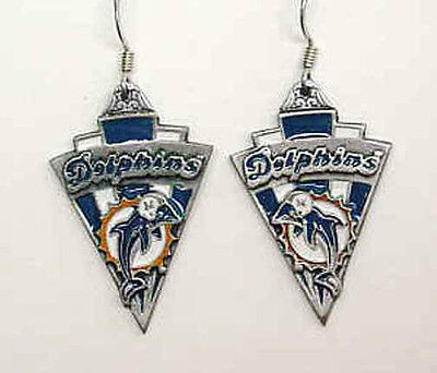 Miami Dolphins Pendant Dangle Pierced Earrings SALE (Old Logo)
