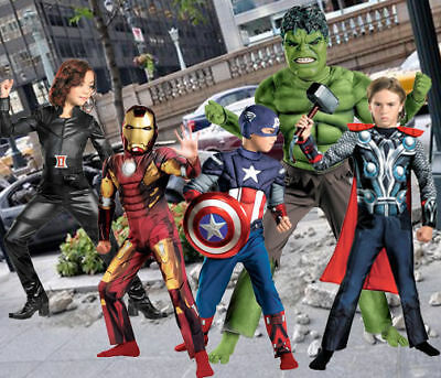 Child Marvel Movie Avengers Iron Man Thor Hulk Captain America Blk Widow Costume (Iron Man Black Costume)