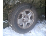 4x4 Winter tyres and steel wheels