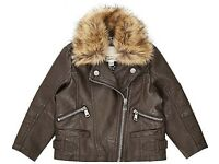 Girls leather river island jacket