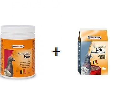 Versele Laga Colombine Grit & Redstone 2.5kg + 1kg Vita Pigeon Food Feed