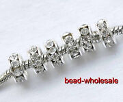 Rhinestone Spacer Beads Big Hole