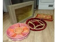 Indian Wedding accessories tray and box