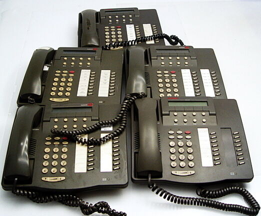 Lot of 5 Avaya Lucent 6416D+M Digital Telephone Phones