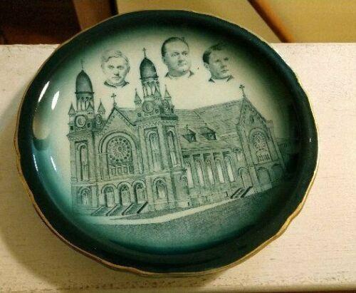 Saint Mary Magdelen Catholic Church Buffalo NY 1907 Buffalo Pottery Plate