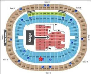 Coldplay Vancouver 9/29 Lower Bowl 2 tickets-Section 215, Row CC