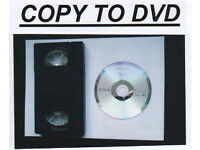COPY VCR TAPES TO DVD £10.00