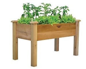 Gronomics 24-inch x 48-inch x 32-inch x 9-inch D Rustic Elevated