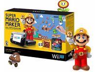 Nintendo Wii U 32 GB Black Limited Edition Super Mario Maker Premium Pack plus more