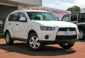 2010 Mitsubishi Outlander ZH MY10 LS White 6 Speed Constant Variable Wagon Westminster Stirling Area Preview