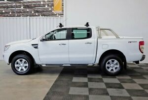 2014 Ford Ranger PX XLT Double Cab 4x2 Hi-Rider White 6 Speed Sports Automatic Utility