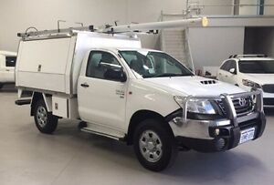 2012 Toyota Hilux KUN26R MY12 SR White 5 Speed Manual Cab Chassis Kenwick Gosnells Area Preview