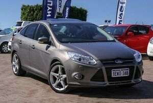 2012 Ford Focus LW MKII Titanium PwrShift Brown 6 Speed Sports Automatic Dual Clutch Sedan Embleton Bayswater Area Preview