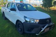2016 Toyota Hilux GUN122R Workmate Double Cab White 5 Speed Manual Utility Berrimah Darwin City Preview