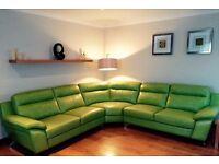 Large Leather Corner Sofa (ex DFS)