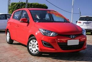 2014 Hyundai i20 PB MY15 Active Red 4 Speed Automatic Hatchback Embleton Bayswater Area Preview