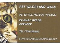 PET WATCH AND WALK / Cat Sitter/ Dog Walker / Glasgow Southside