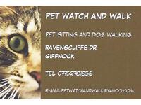 PET WATCH AND WALK / Cat Sitter/ Dog Walker / Glasgow Southside