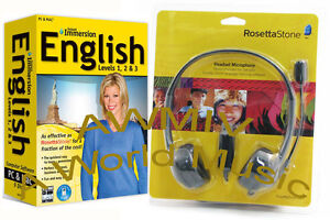 NEW Instant Immersion Learn ENGLISH Language Software with Rosetta Stone Headset