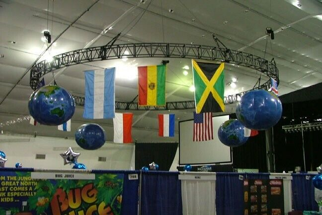inflatable globes of the earth