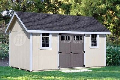 Backyard Storage Shed Plans 12' x 16' Gable Roof #D1216G, Material List -