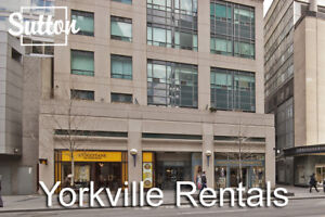 FURNISHED Executive Rental in  Yorkville!  2 Beds/2 Baths!