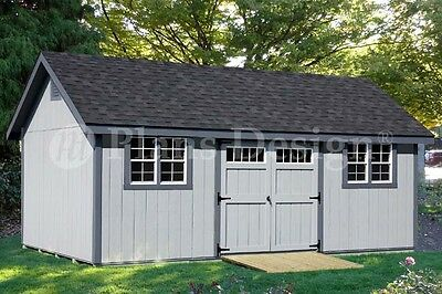 Storage Shed Plans 12' x 24' Gable Roof Style #D1224G, Material List -