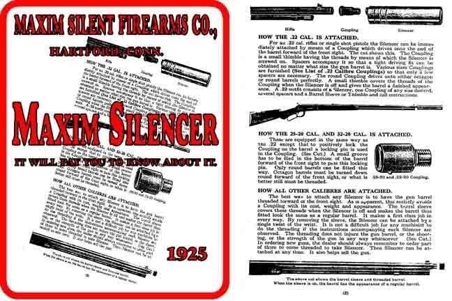 Maxim 1925 Gun Silencer Catalog
