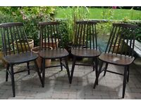 4 Spindle Back Dining Chairs