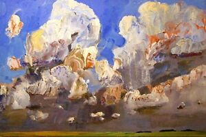 "Hardy, Greg; painting ""Summer Cumulus"", 45"" x 30""."
