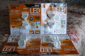 Led dimmable bulbs pin base 6watts brand new