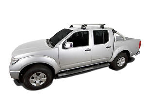 Rhino Pair of Vrotex Roof Racks NISSAN Navara D40 Dual Cab 11/05 On