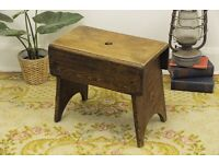Antique Arts & Crafts Milking Stool