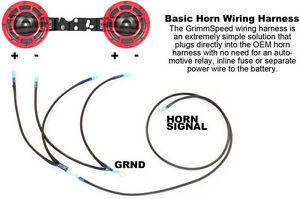 Grimmspeed Hella Horn Wiring Harness, 2002-2014 Subaru WRX & STi