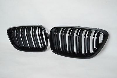 BMW F22 F23 2 Series Gloss Black Kidney Grill Grille 2012-2017 M2 look 100% FIT