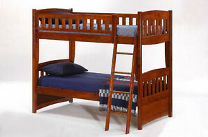 Bunk Bed - Hard Wood - Single over Single - by Bunk Beds Canada