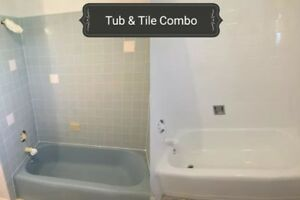 Bathtub & Tile Refinishing, Grout Cleaning & Caulking Renewal.