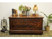 Antique Victorian Pine Kist/ Chest/ Trunk