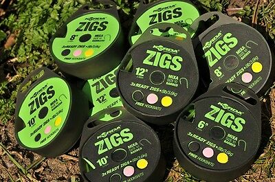 NEW Korda Ready Tied ZIG RIGS Carp Fishing Rig  *FULL RANGE*